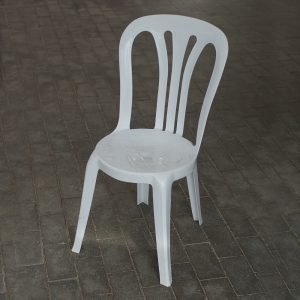 Café stol - hvid