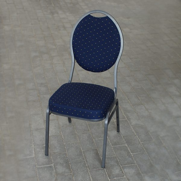 Banquet stol - Crome-blå