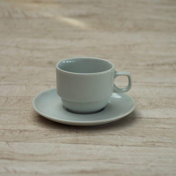 Kaffekop 20 cl. og underkop - Praha Stable