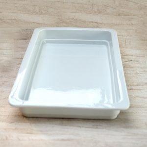 Ovnfastfad 53 x 33 dyb - hvid porcelæn