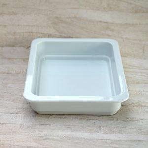 Ovnfastfad 32 x 26 dyb - hvid porcelæn
