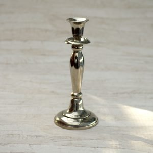 Enkelt lysestage - Krom - 24 cm