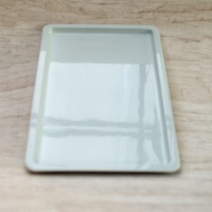 Ovnfast fad 53 x 32 lav - hvidporcelæn