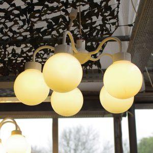 Lampe med 5 kupler