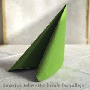 Duni Dunilin servietter 40x40 cm Leaf green - 45 stk.
