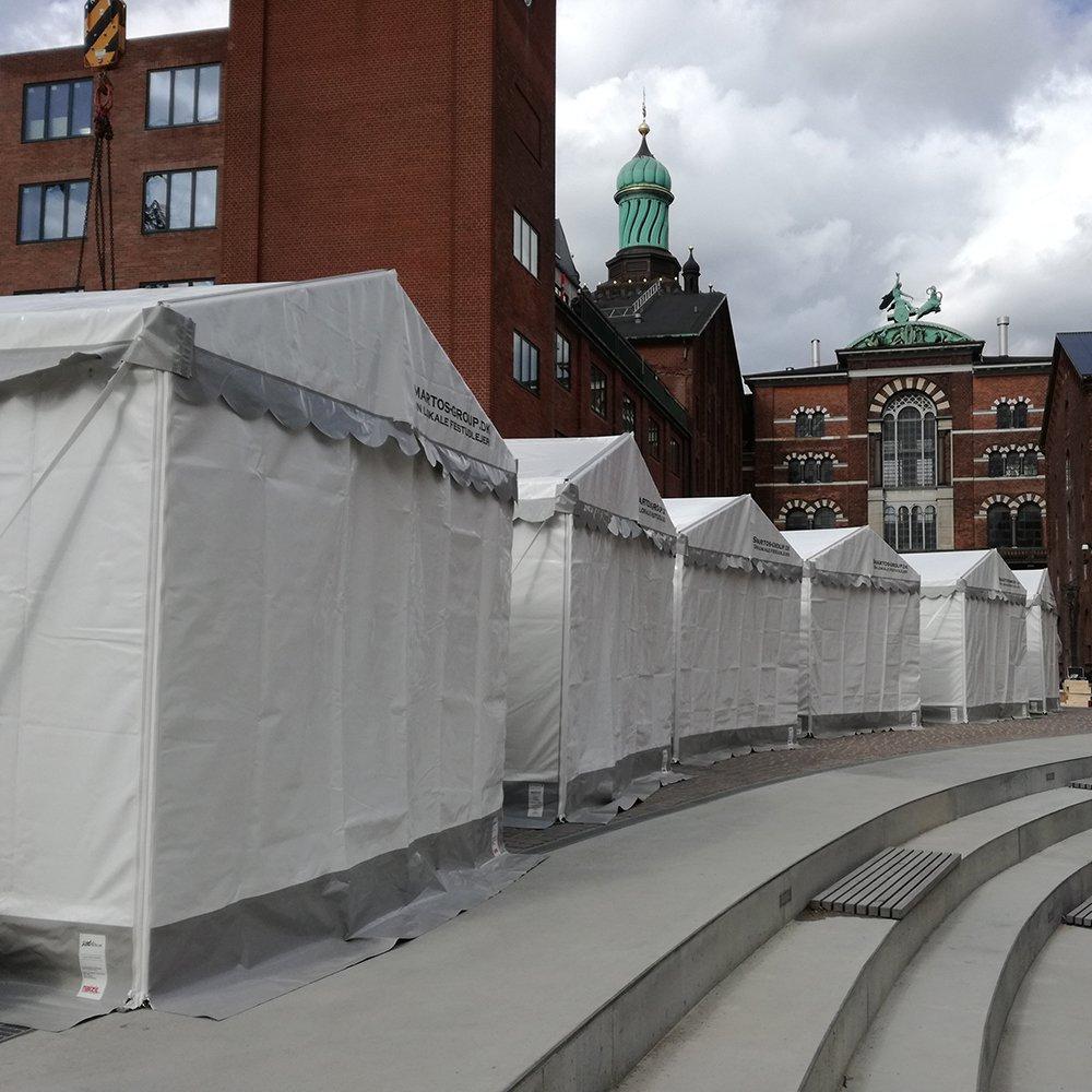 3 x 3 meter telte i Carlsbergbyen til event