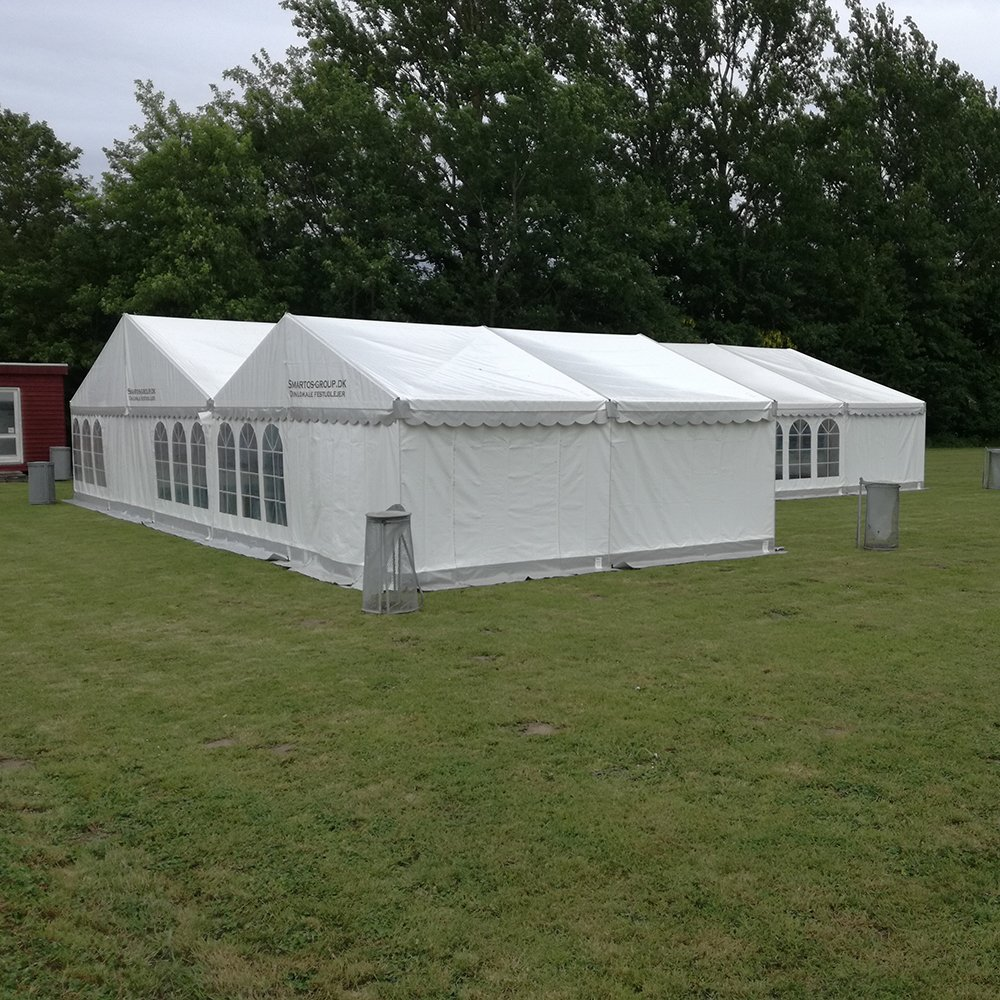 9 meter og 6 meter telt bygget sammen