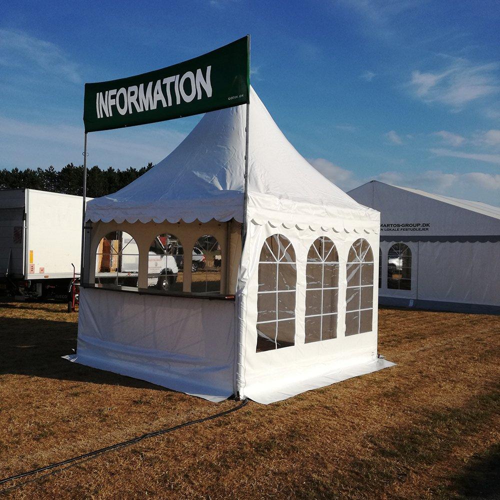 Pagodetelt til informations telt
